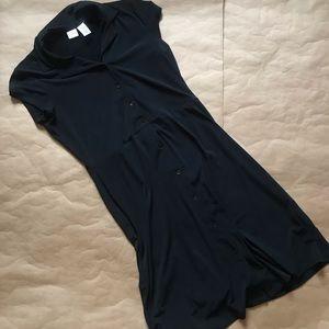 button down black dress
